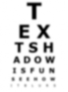 text-shadow Snellen chart