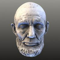 3D model of Abe Lincoln's head